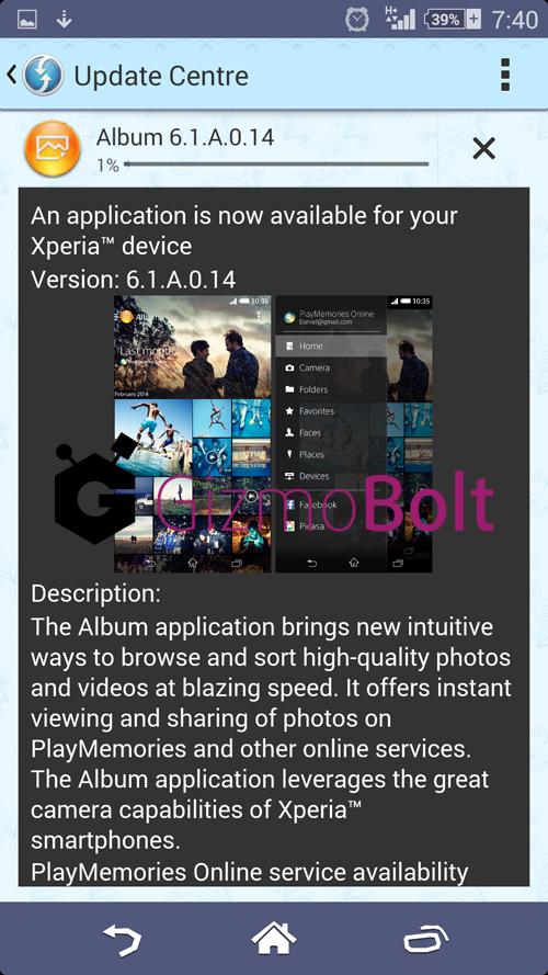 Album 6.1.A.0.14 app update
