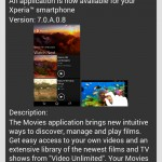 Sony Movies 7.0.A.0.8, Video Unlimited 12.0.B.0.3 update rolling now