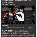 Sony Walkman 8.3.A.0.7 app update rolling