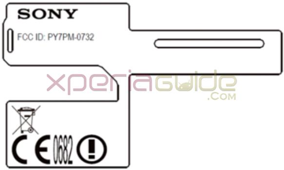 Xperia FCC ID PY7PM-0732-BV