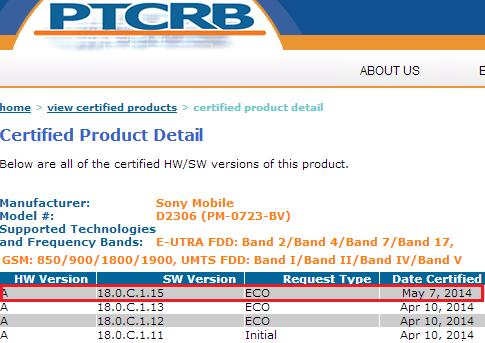 Xperia M2 18.0.C.1.15 firmware