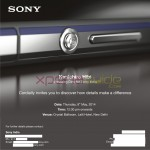 Xperia Z2 launch press invite – Event in India on 8 May 12.30 PM at New Delhi