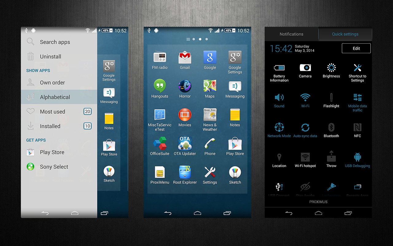 Download Xperia Aneurysm theme