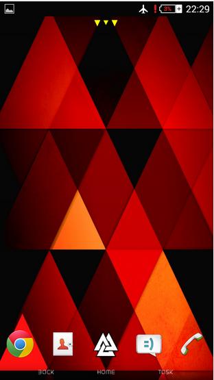 Install  Xperia Theme Triangles