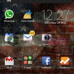 Install Xperia Tattered Stripes theme on Xperia device