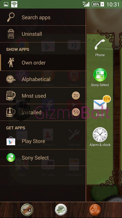 Xperia theme PubOldFriendly UI