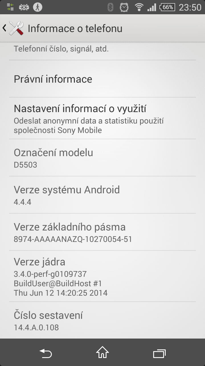 14.4.A.0.108 firmware Xperia Z1 Android 4.4.4 update