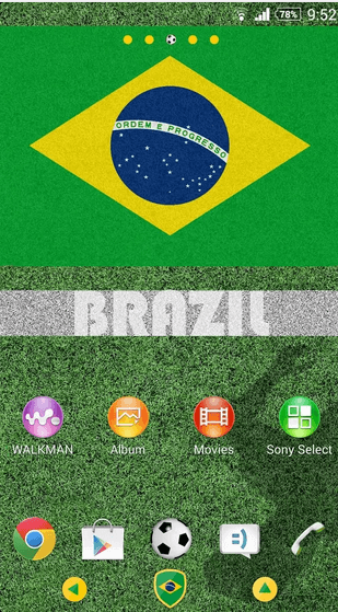 Brazil Theme for Xperia