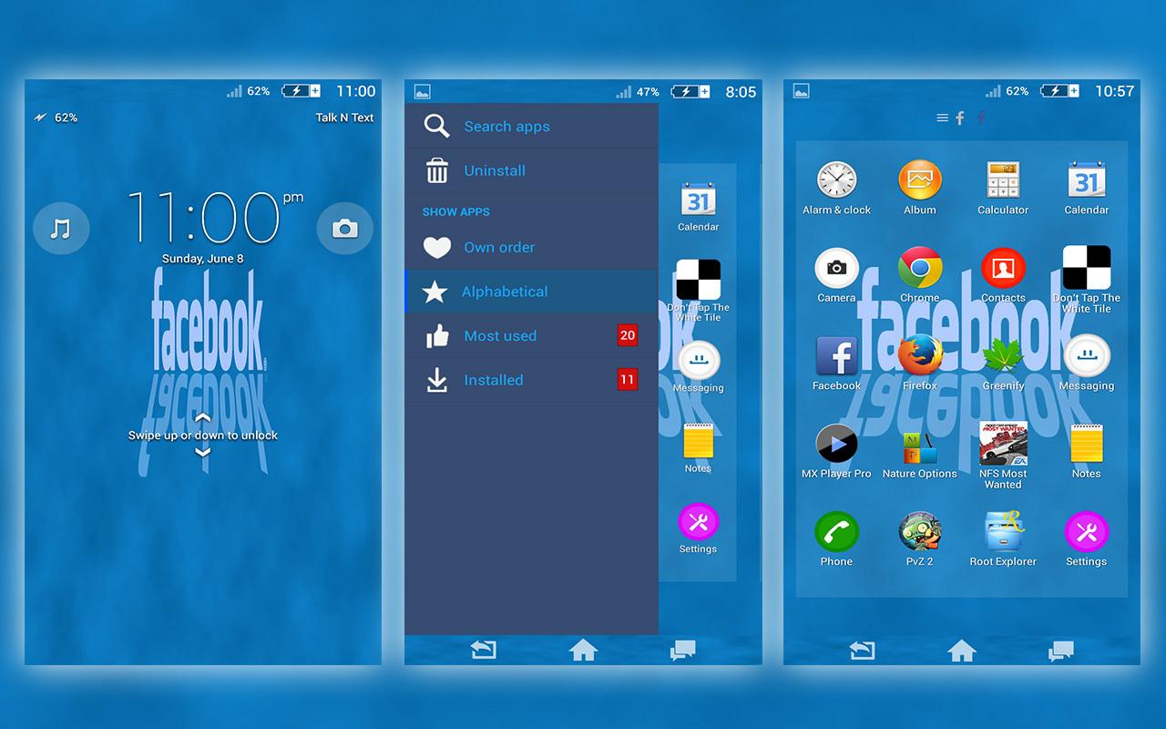 Download Xperia Facebook theme