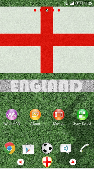 England Theme for Xperia