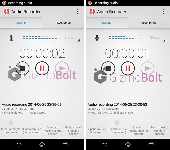 Sony Audio Recorder 1.00.13 apk