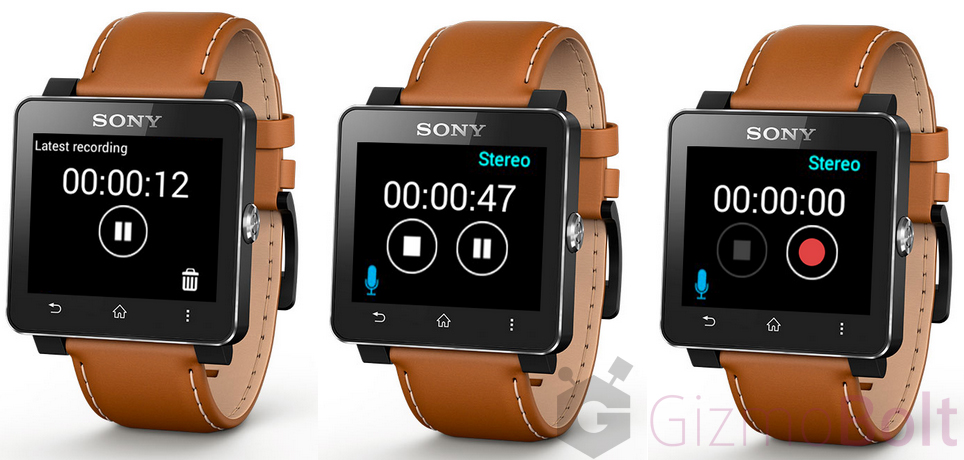 Sony Recorder App for SmartWatch 2