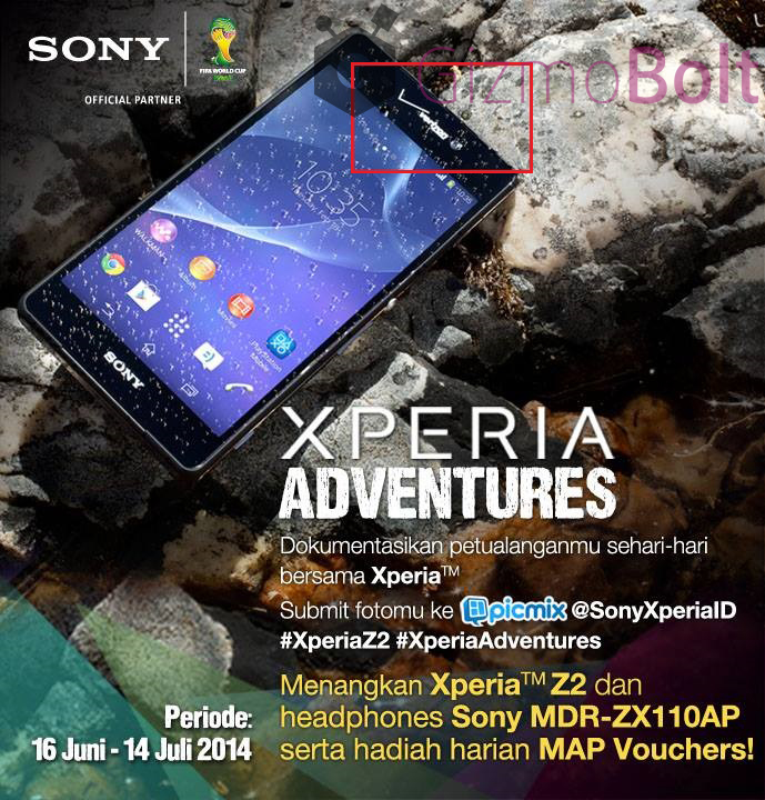 Verizon Xperia Z2 pic leaked by Sony Indonesia