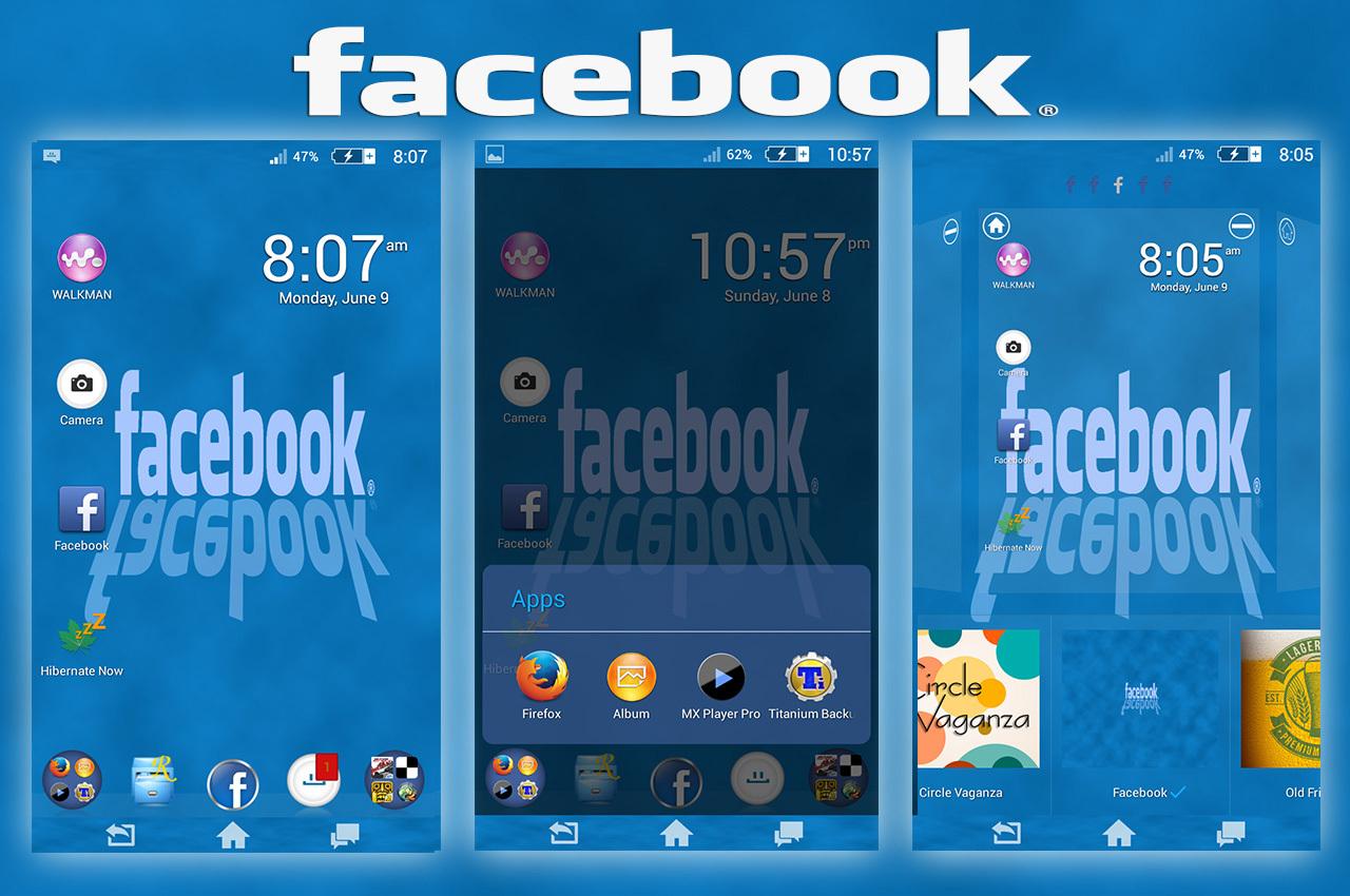 Xperia Facebook theme