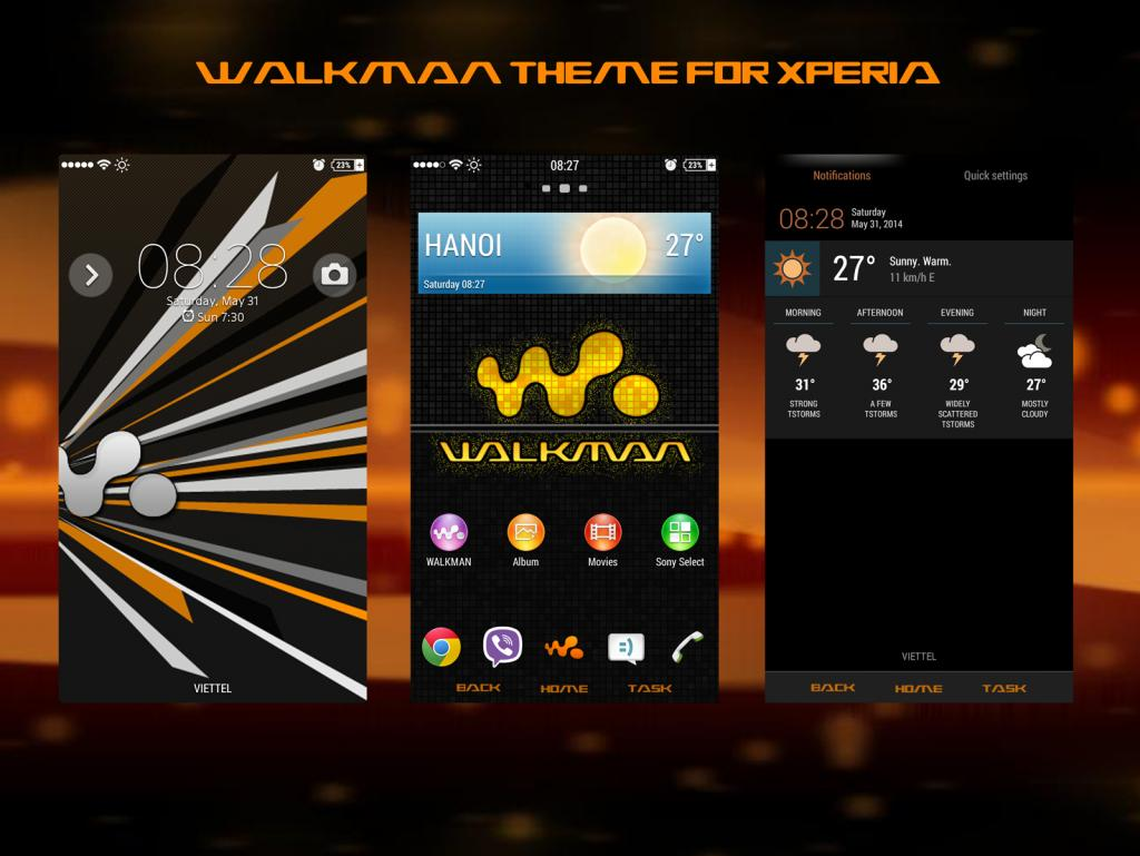 Xperia Walkman theme