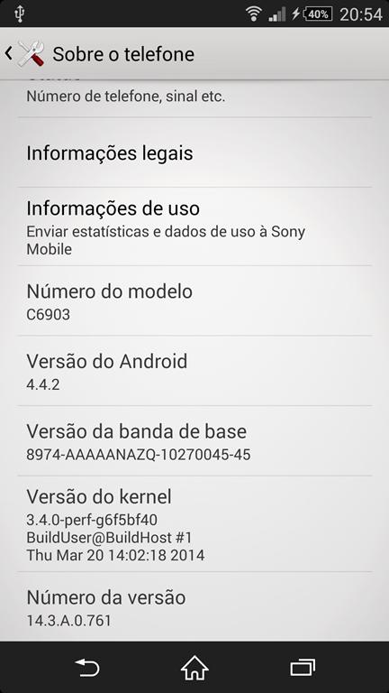 Xperia Z1 C6903 14.3.A.0.761 firmware