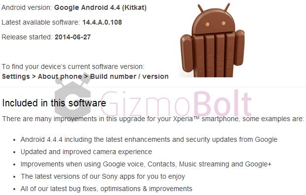 Xperia Z1 Z Ultra 14.4.A.0.108 firmware