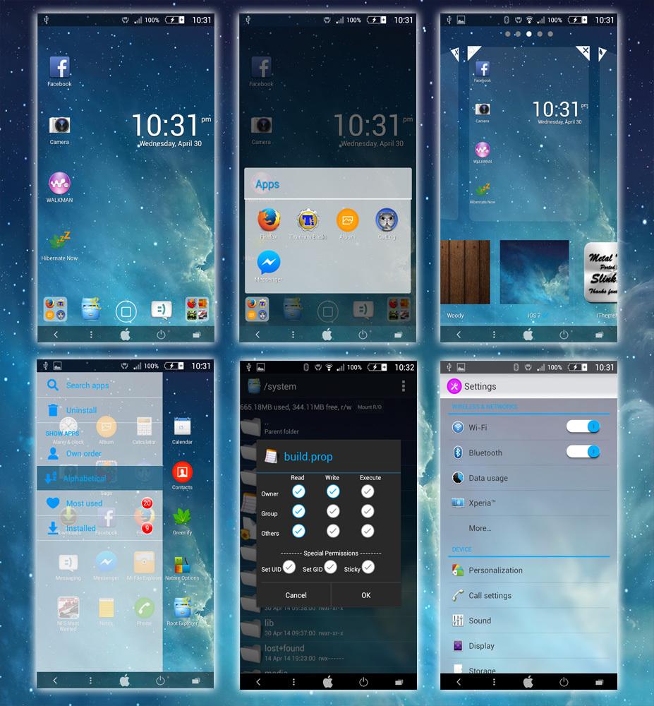 Xperia iOS7 theme