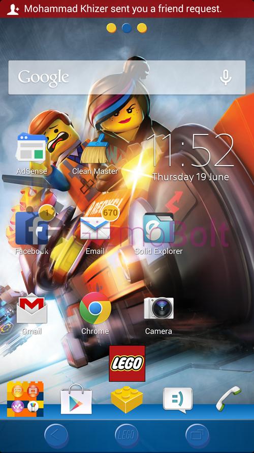 Xperia LEGO MOVIE homescreen wallpaper