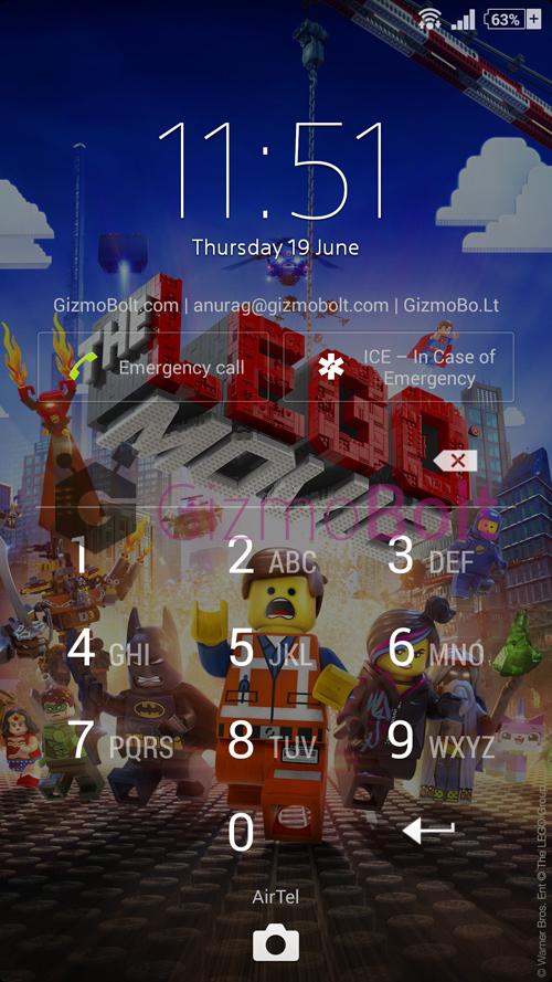Xperia The LEGO MOVIE Theme
