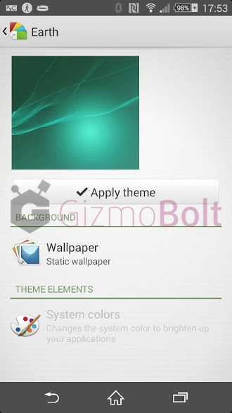 Xperia Z2 Theme picker update