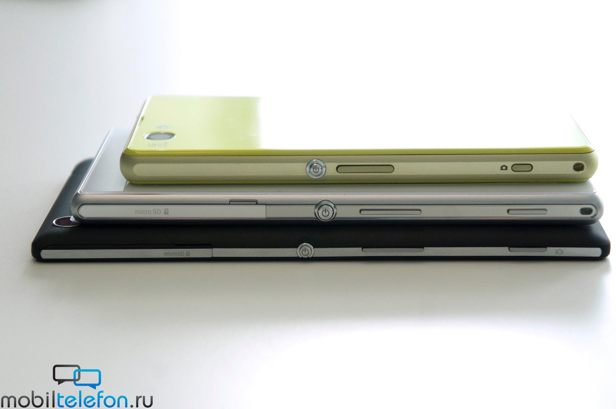 Xperia T3 vs Z2 vs Z1 Compact