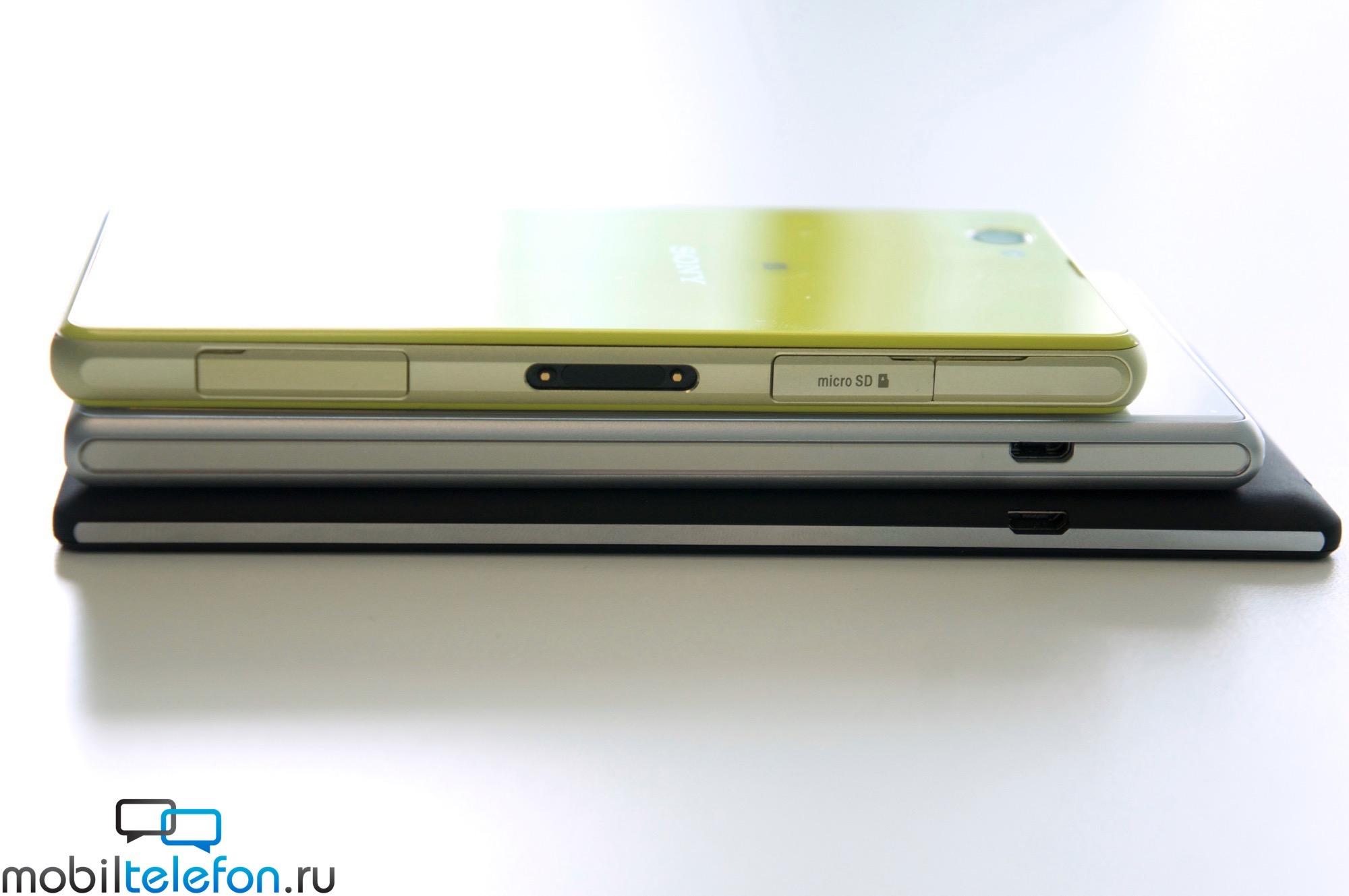 Xperia T3 vs Z2 vs Z1 Compact Size comparison