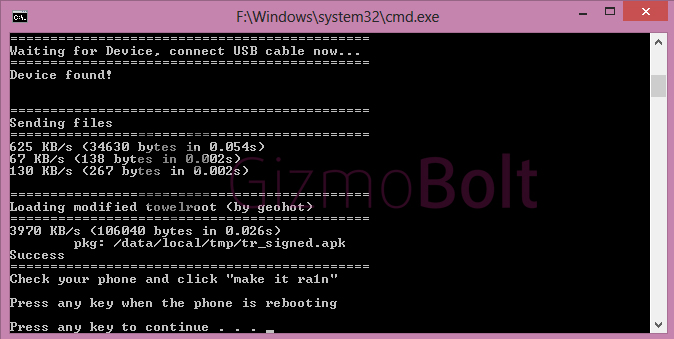 Towel Root Exploit Xperia Z1