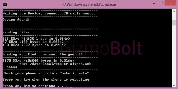 Towel Root Exploit Xperia Z1