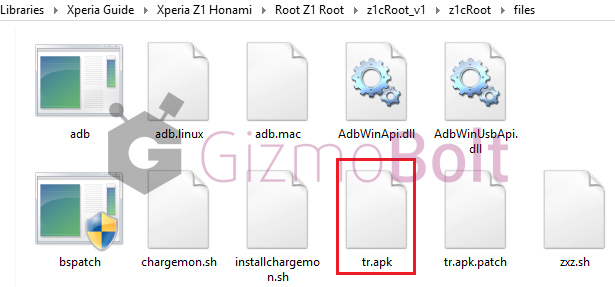Towel Root files content