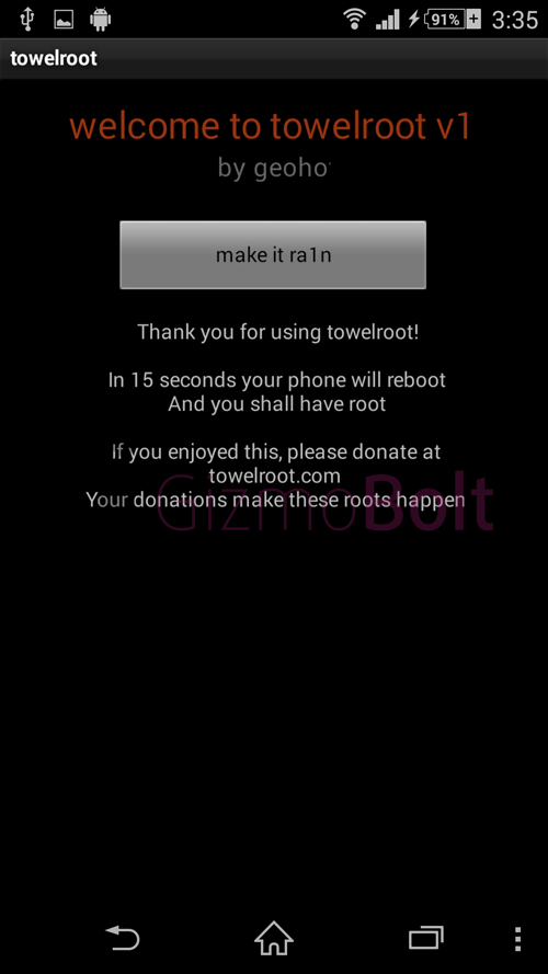 Root Xperia Z1 Towel Root