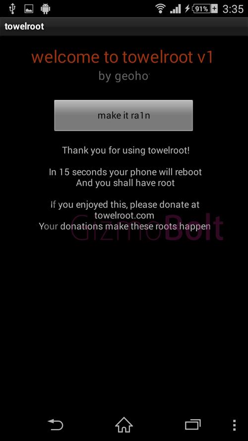 Root Xperia Z1 Towel Root