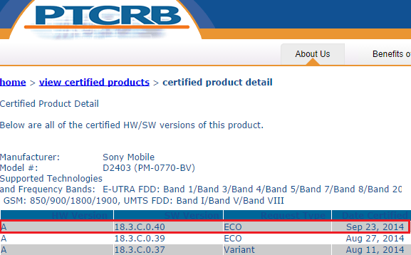 18.3.C.0.40 firmware certification for D2403.