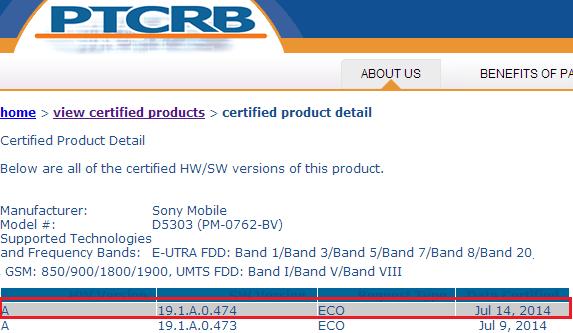 19.1.A.0.474 firmware Xperia T2 Ultra D5303
