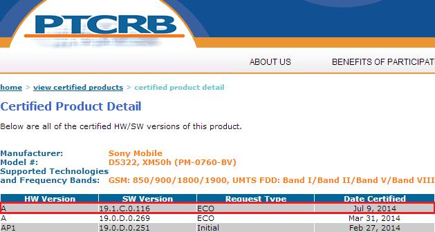 19.1.C.0.116 firmware Xperia T2 Ultra Dual