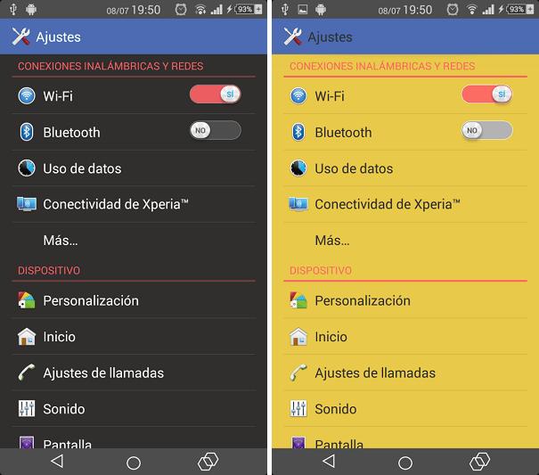Colourful Xperia Theme apk