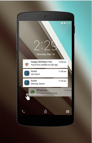 Download Android L Lockscreen app