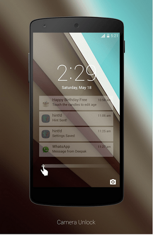 Download Android L Lockscreen