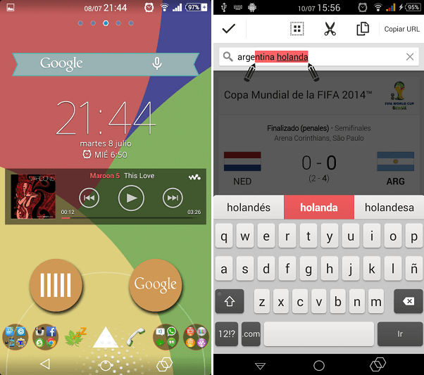 Download Colourful Xperia Theme