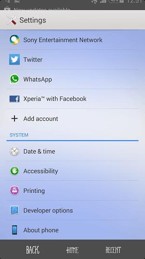 Download Xperia Blue Sea theme