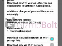LG G3 D855 43.74 MB V10e OTA update