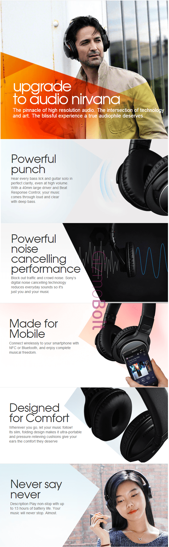 Sony MDR-ZX750BN headphones India