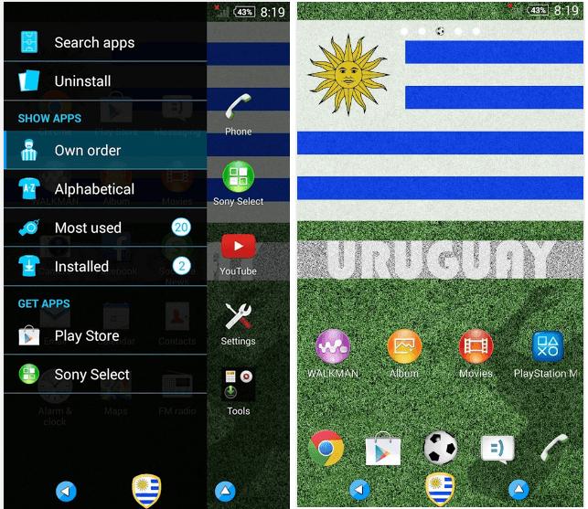 Uruguay Theme for Xperia