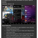 Sony Walkman 8.4.A.1.4 app update – Improved navigation menu