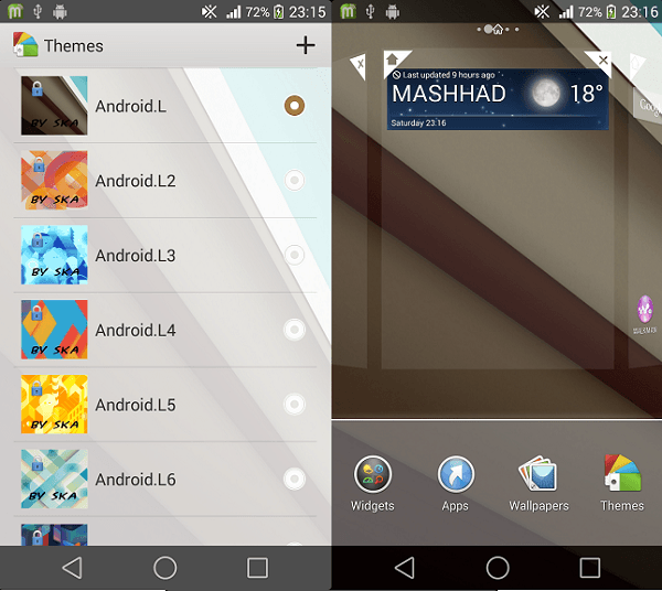 Xperia Android L1 Theme apk