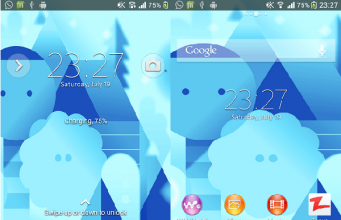 Xperia Android L3 Theme preview