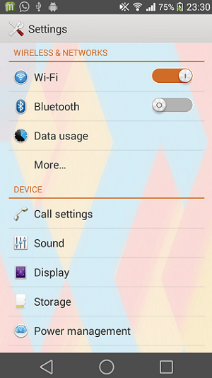 Xperia Android L4 Theme