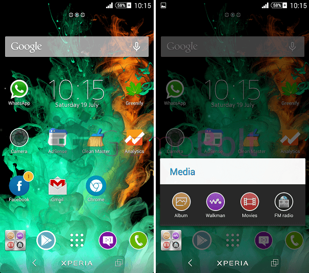 Xperia Blue iTheme with Metal Icons