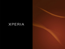 Xperia Colorful Amber boot animation