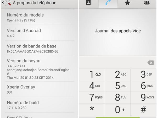 Xperia Overlay Xperia Ray Android 4.4.2 ROM